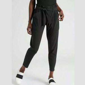 Athleta Skyline Pants Paperbag Waist Black Joggers